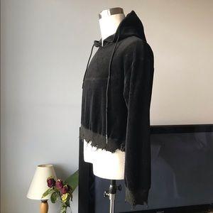 black gothic style hoodie